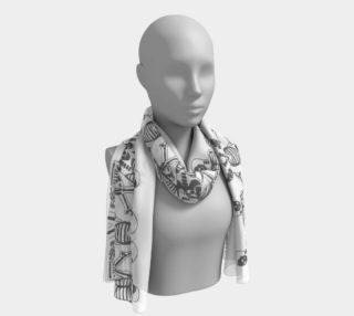 skeletal pattern scarf preview