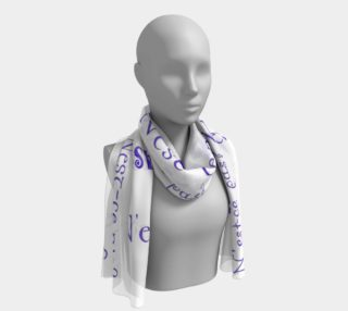 Purple N'est-ce Pas Long Scarf preview