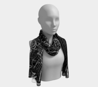Black and White Spider Webs Long Scarf aperçu