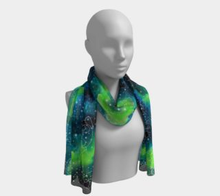 Pug Constellations Greens Blues Long Scarf preview