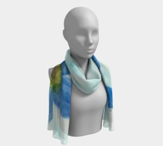 Simply Blue Flowers Long Scarf preview