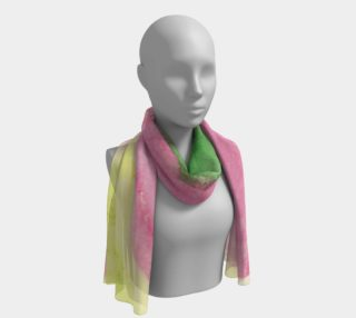 Pink Flower Blossom Long Scarf preview