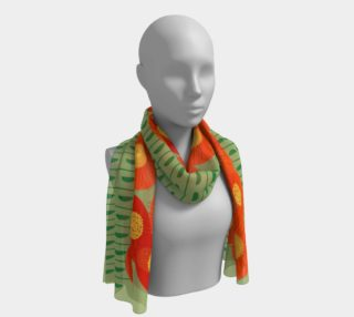 Orange Sunflowers Scarf preview