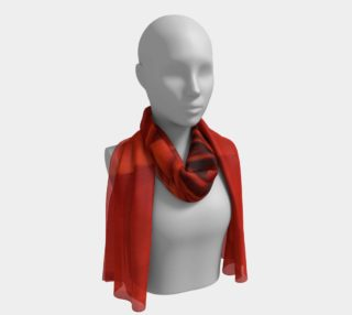 """Seeing Red-16""""x72"""" Silk Scarf preview"""