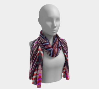 Candy Cane Kaleidoscope Long Scarf preview