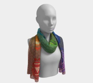 Hexa Chakra Silk Scarf Long preview