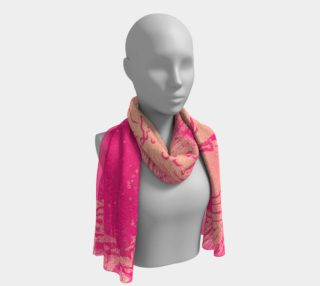 A night out pink long scarf preview