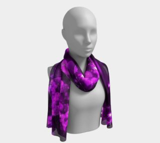 Purple Bokeh Hearts Long Scarf preview