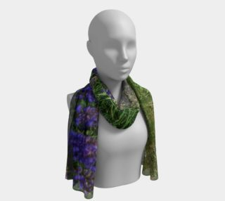 New Zealand Wild Flowers Long Scarf/Shawl preview