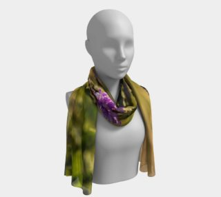 Purple Flowers in Badlands Long Scarf/Shawl preview