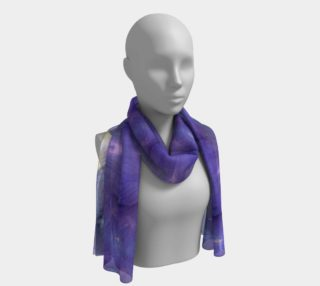 Fluid Violet Iris Long Scarf preview