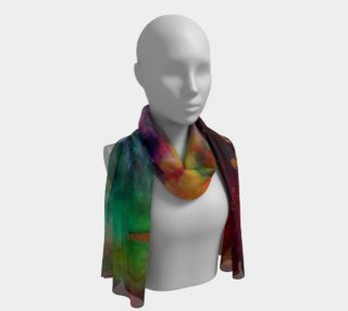 Summer evening long scarf preview