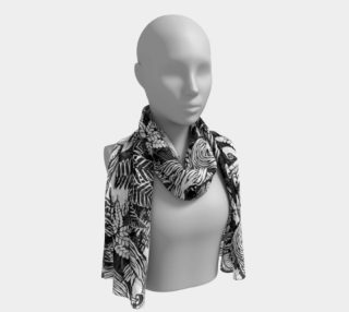 Landscape Art Print Scarf Black & White Forest Scarves preview