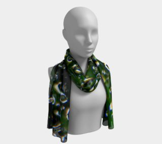 Raindrops & Greenery, Long Scarf/Shawl preview