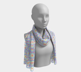 Rainbow and white swirls doodles Long Scarf preview