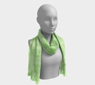 Greenery and white swirls doodles Long Scarf preview