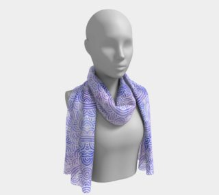 Lavender and white swirls doodles Long Scarf preview