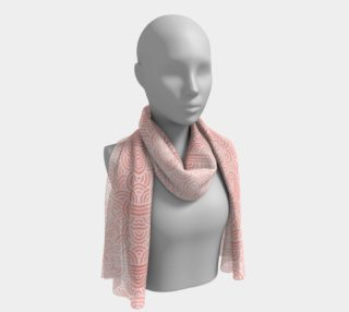 Rose quartz and white swirls doodles Long Scarf preview
