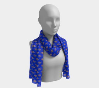 Aperçu de Forsythia At Noon in Royal Blue Long Scarf