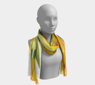 Yellow Daffodil Narcissus Long Scarf preview