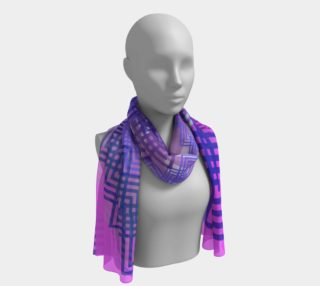 Abstract Pink, Blue and Purple Scarf preview
