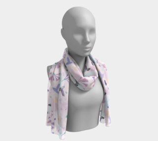 Aperçu de Hummingbird and flower silk scarf pattern