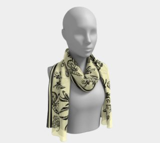 """BKC Black Buttterfly Long Scarf 16"""" x 72"""" preview"""