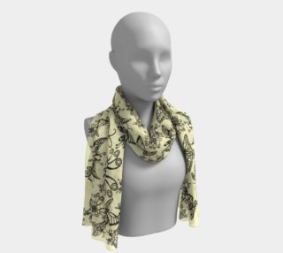 """BKC Black Butterfly Long Scarf 16"""" x 72"""" 2 preview"""