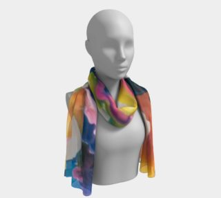 Rainbow Strider long scarf preview