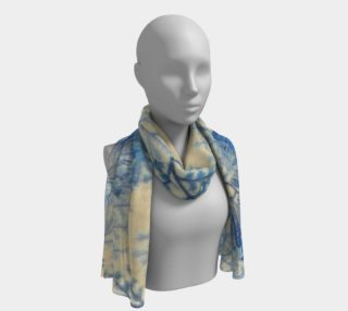 Blue Ferns long scarf preview