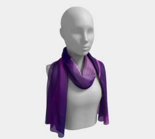 Purple Waves long scarf preview