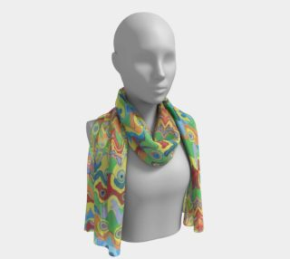 Abstract Hills Pattern 2 Long Scarf preview