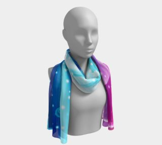 cool waves in blue long scarf winter blue purple preview