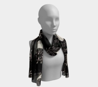 Black and White Paisley Long Scarf preview