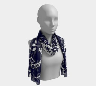Navy Paisley Long Scarf preview