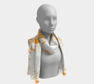 Beige with Orange FDL Long Scarf preview