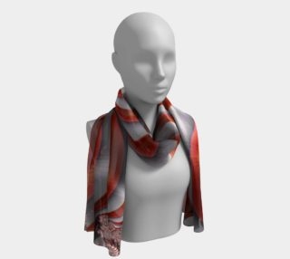 Candy Cane Fractal Long Scarf preview