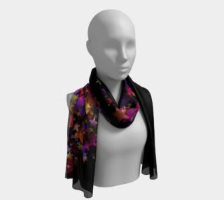 Stars on Black Long Scarf preview