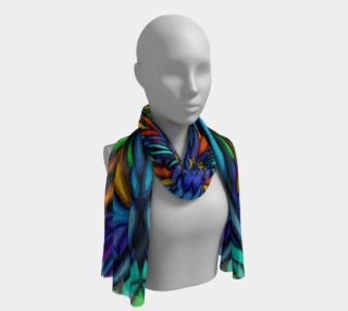 Blue floral scarf preview