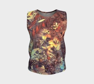 flowers art loose tank top preview