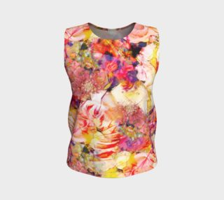 flowers pastel  loose tank top preview