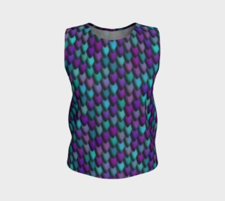 Midnight Purple & Teal Dragon Loose Tank preview
