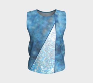Kaleid Draped Bodice Muddled Blue over Blue Ombre preview