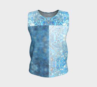 Kaleid Split Bodice Patchwork Blue Lace Muddle Ombre preview