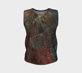 Aperçu de Painterly Cindy and More Funky Modern Loose Tank with Black Back