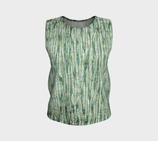 Aperçu de Blue Green Black Nature Floral Loose Tank Top
