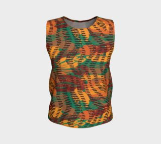 Abstract Animal Stripes Loose Tank Top preview