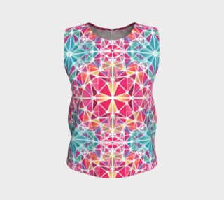 Pink and Blue Kaleidoscope Loose Tank Top preview