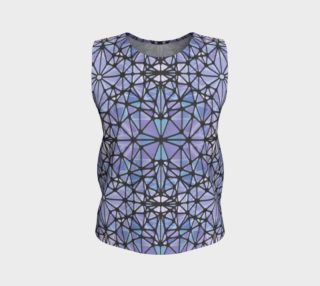 Purple and Blue Kaleidoscope Loose Tank Top preview