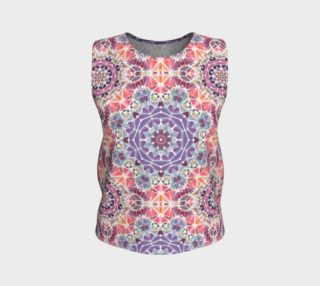 Purple and Pink Kaleidoscope Loose Tank Top preview